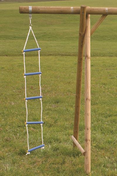 Závesné rebríky, steny na lezenie