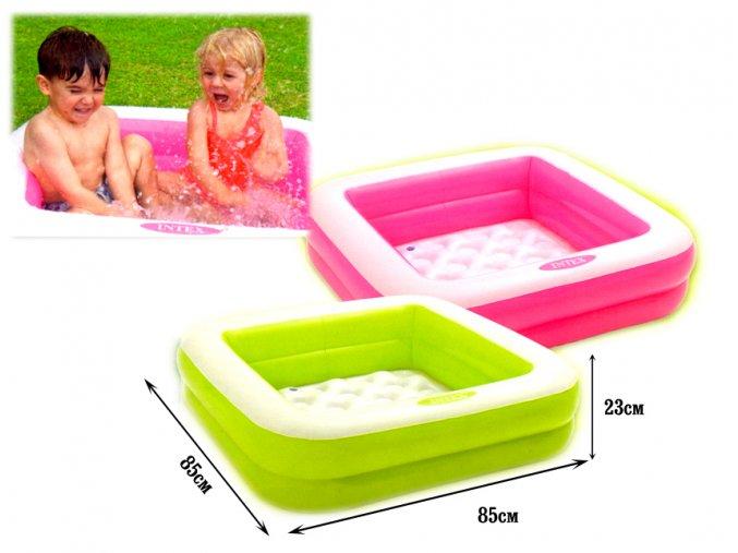 Intex nafukovací detský bazénik štvorec