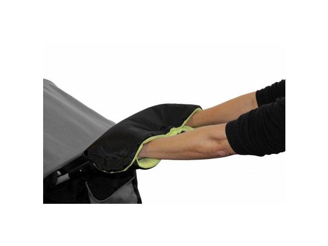 Rukávnik na rukoväť kočiara KLASIK fleece čierny / limetka