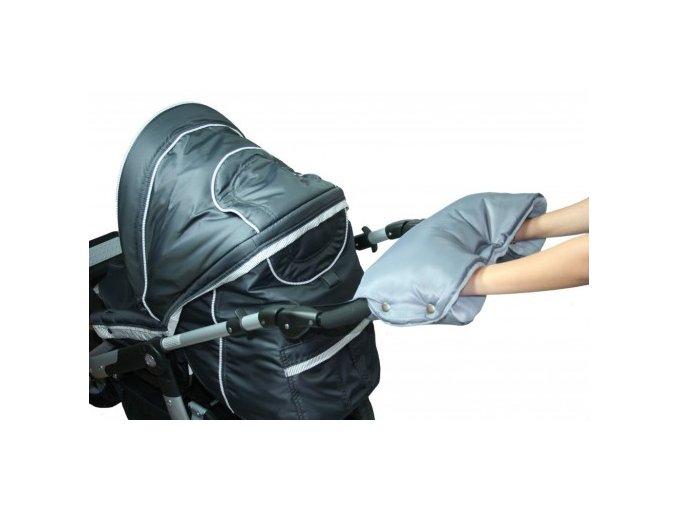 Rukávnik na rukoväť kočiara KLASIK fleece šedý