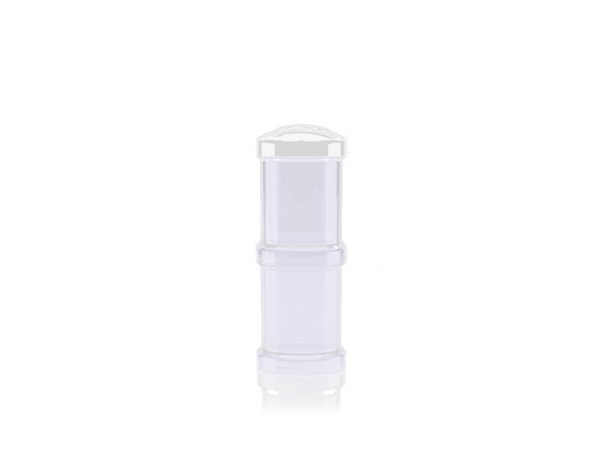 Twistshake Zásobník na sušené mlieko biely, 2ks