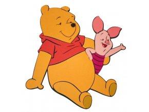 Dekorácia na stenu - Pooh s prasiatkom