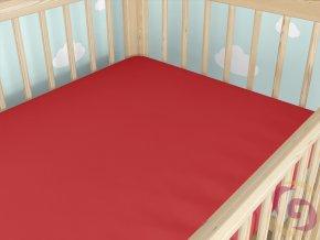 Jersey napínacie prestieradlo detské 60x120cm červené