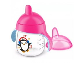 Kúzelný hrnček Avent Pingu 260 ml ružový