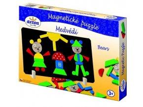 Magnetické puzzle Medvede