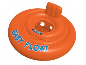 Nafukovacia sedačka do vody Baby float 76 cm oranžová