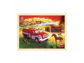 Tatra hasiči drevené puzzle