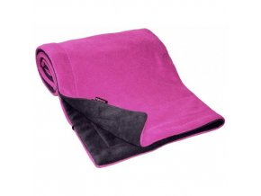Deka FLEECE 70x100cm Antracit Fuchsia
