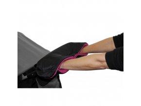 Rukávnik na rukoväť kočiara KLASIK fleece čierny / fuchsia