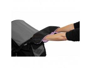 Rukávnik na rukoväť kočiara KLASIK fleece čierny / lila