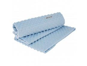 Detská deka dvojitá MINKY jednofarebná modrá