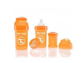 TWISTSHAKE antikoliková fľaša 180ml Oranžová