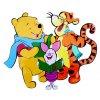 Dekorácia na stenu Pooh, tiger a prasiatko spievajú