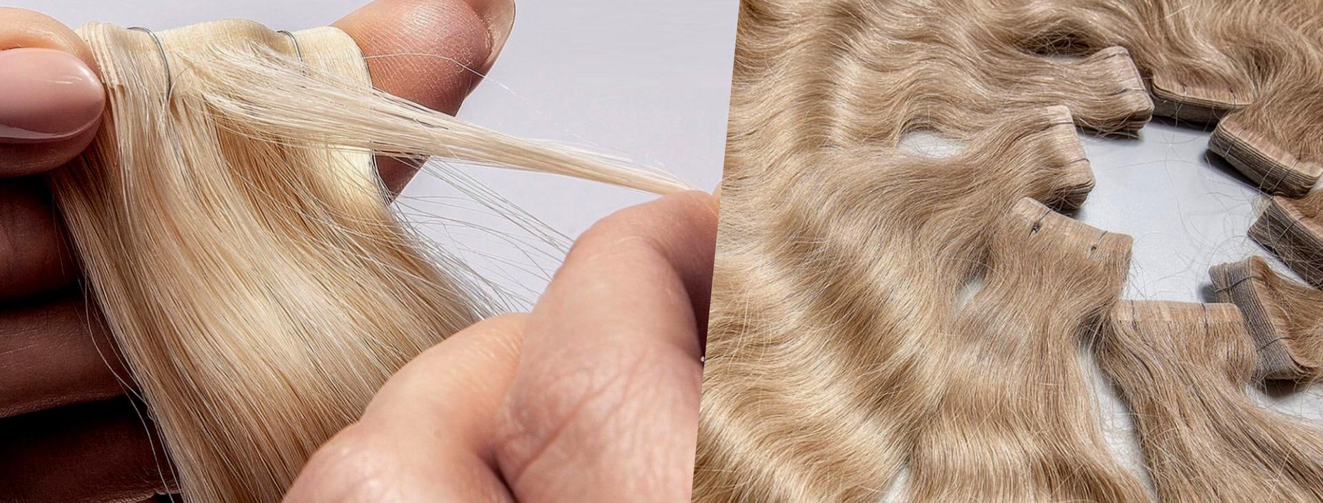 Slovanské vlasy - pasky invisible 1