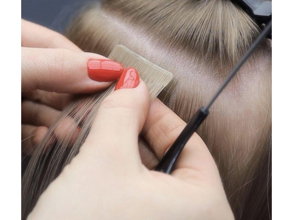 Neviditelné vlasové pásky - rovné - 45 cm