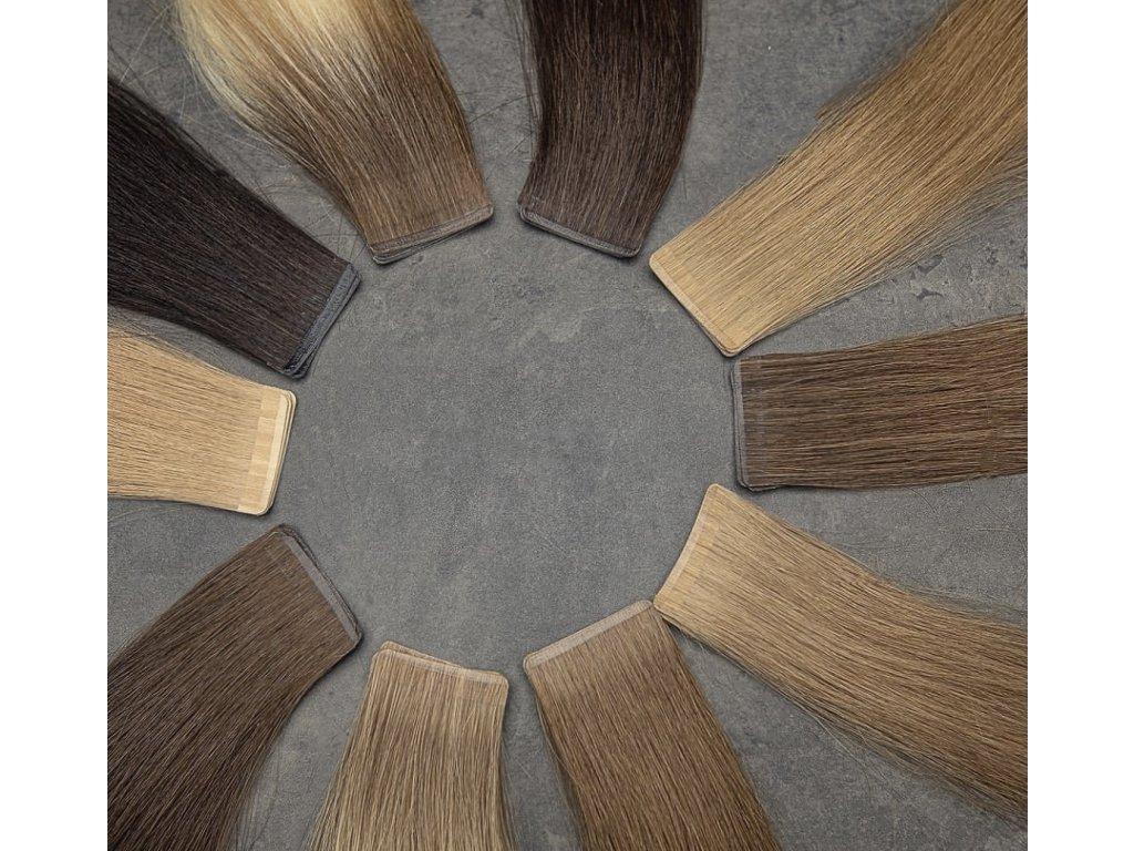 Neviditelné vlasové pásky - rovné- 50 cm