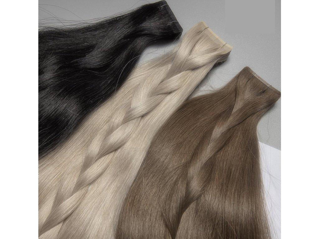 Neviditelné vlasové pásky- rovné - 60 cm