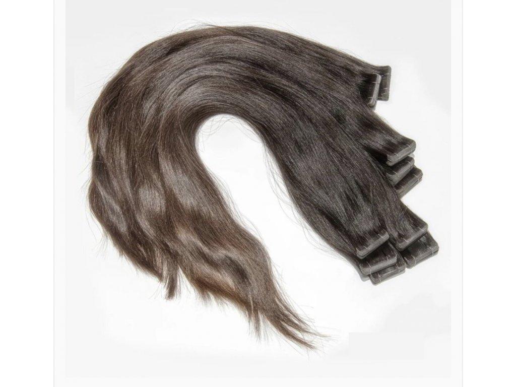Neviditelné vlasové pásky - rovné - 70 cm