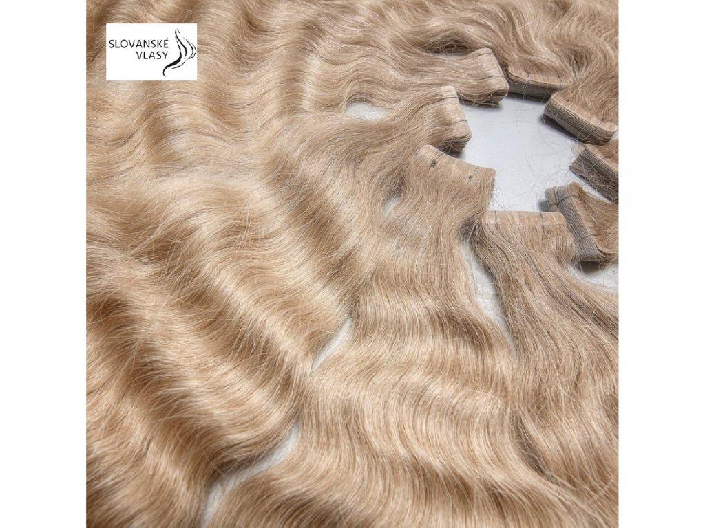 Neviditelné vlasové pásky - vlnité - 70 cm