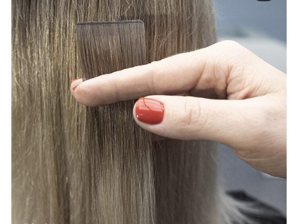 Neviditelné vlasové pásky - rovné - 45 cm šířka 3 cm