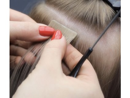Neviditelné vlasové pásky - rovné - 45 cm šířka 4 cm