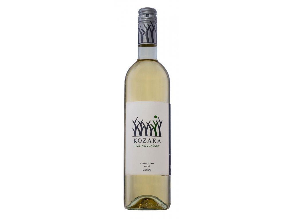 Kozara - Ryzlink vlašský 2019 - Bílé víno - Pozdní sběr