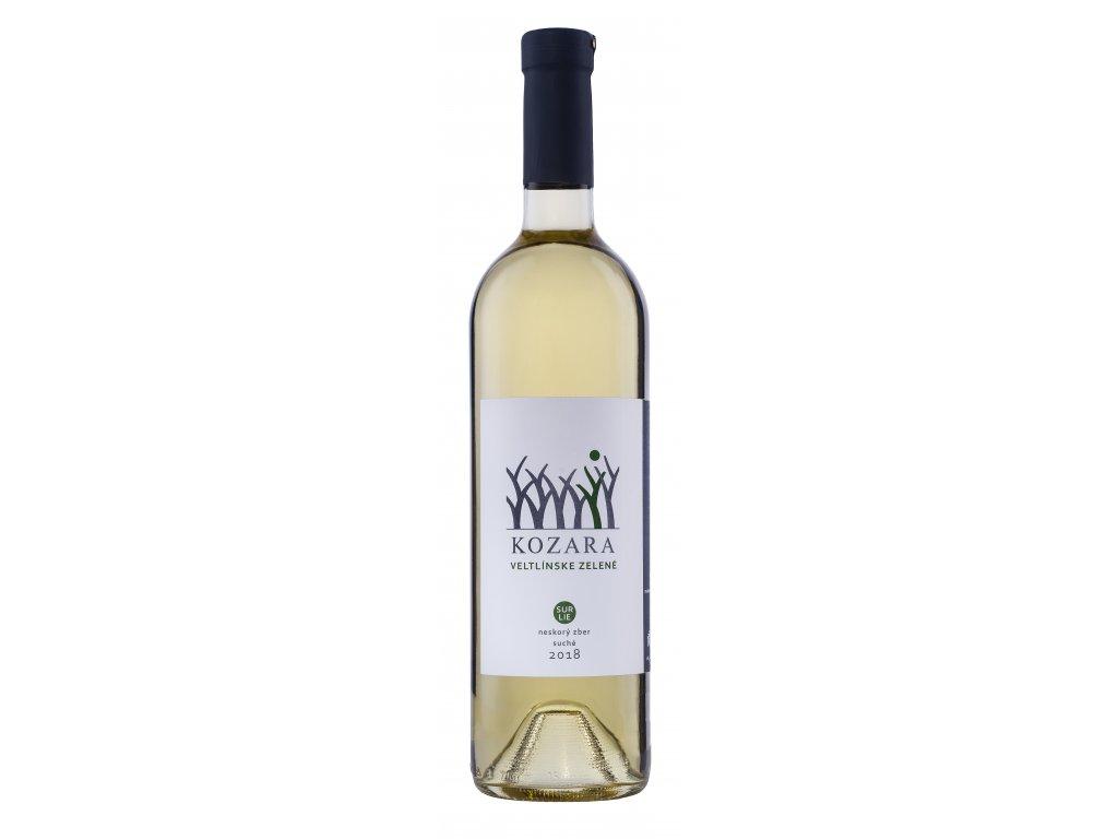 Kozara - Veltlínske zelené 2018 - Sur Lie - Bílé víno - Pozdní sběr