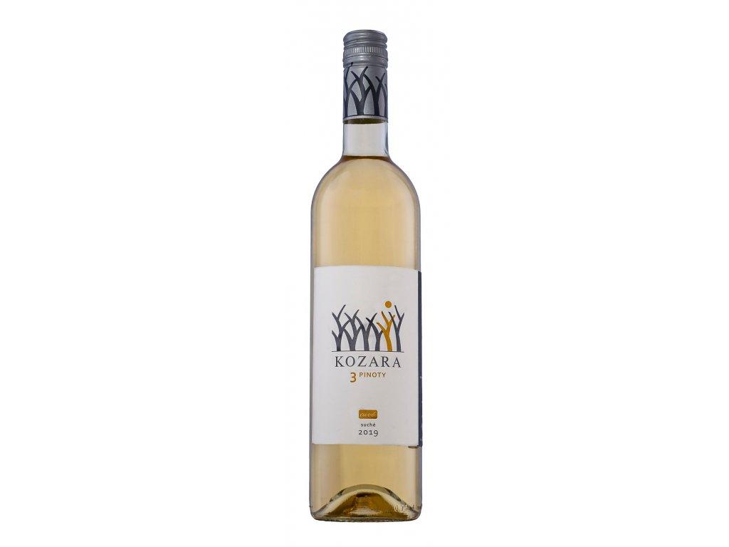 Kozara - Tri Pinoty 2019 - Bílé víno - Pozdní sběr
