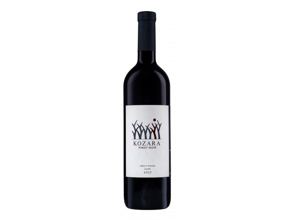 Kozara - Rulanské modré - Pinot noir 2017 - Červené víno - Výběr z hroznů