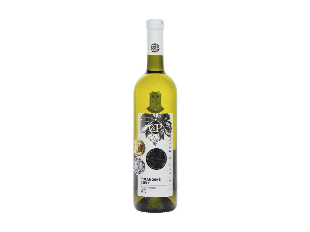 Cintavý a Pisarčík - Rulandské biele VZH 2017 - Bílé víno - Výběr z hroznů