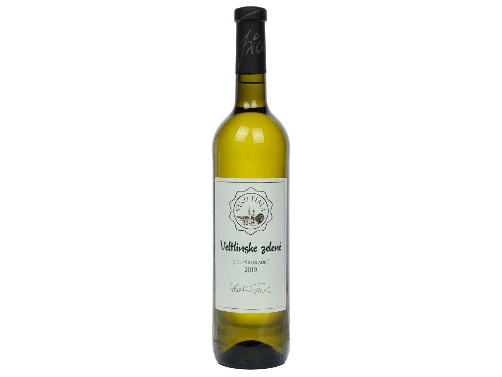 Fiala - Veltlínske zelené 2019  - Bílé víno - Jakostní víno