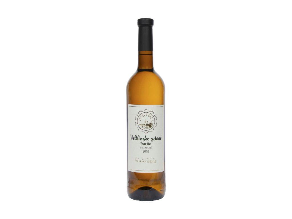 Fiala - Veltlínske zelené 2018 - SUR LIE - Bílé víno - Jakostní víno