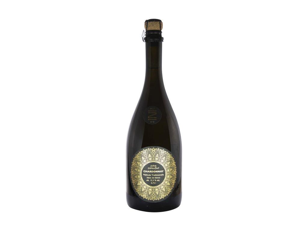 Zápražný - Sekt Chardonnay, 2018,Brut - Šumivé víno - Jakostní víno VOC