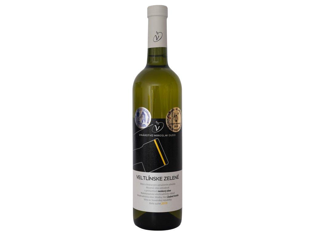 Dudo Miroslav - Veltlínske zelené 2019 - Bílé víno - Pozdní sběr