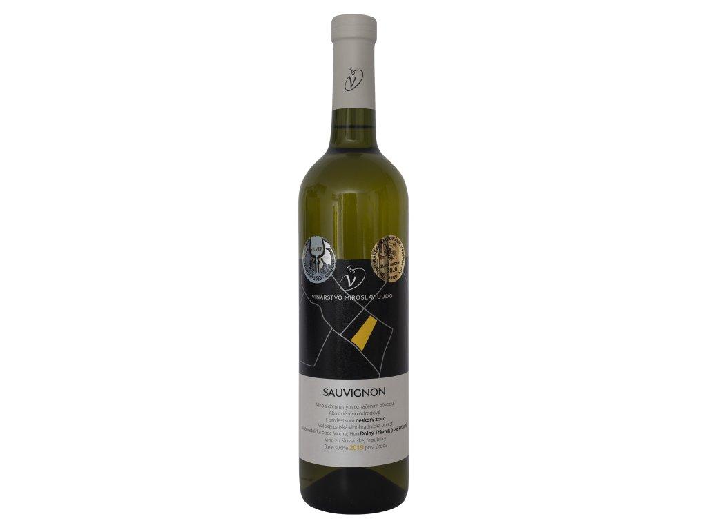 Dudo Miroslav - Sauvignon - prvá úroda 2019 - Bílé víno - Pozdní sběr