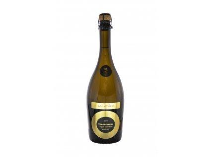Zápražný - Sekt Chardonnay, 2018,Zero Dosage - Šumivé víno - Jakostní víno VOC