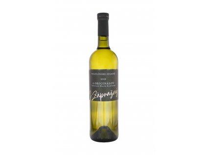 Zápražný - Veltlín Zelený,2018, 6 Originálov,Suché - Bílé víno - Jakostní víno VOC