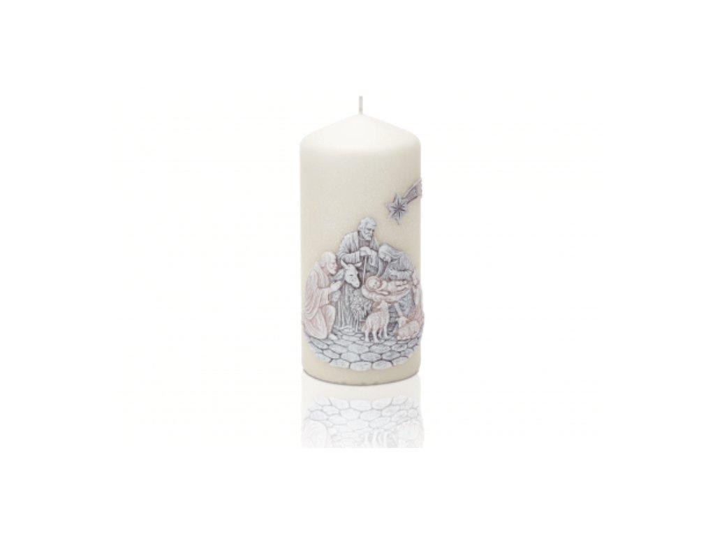 Vánoční svíčka 70x150 hnědý Betlém