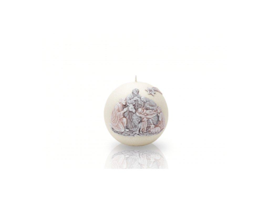654 Vánoční svíčka koule hnědý Betlém