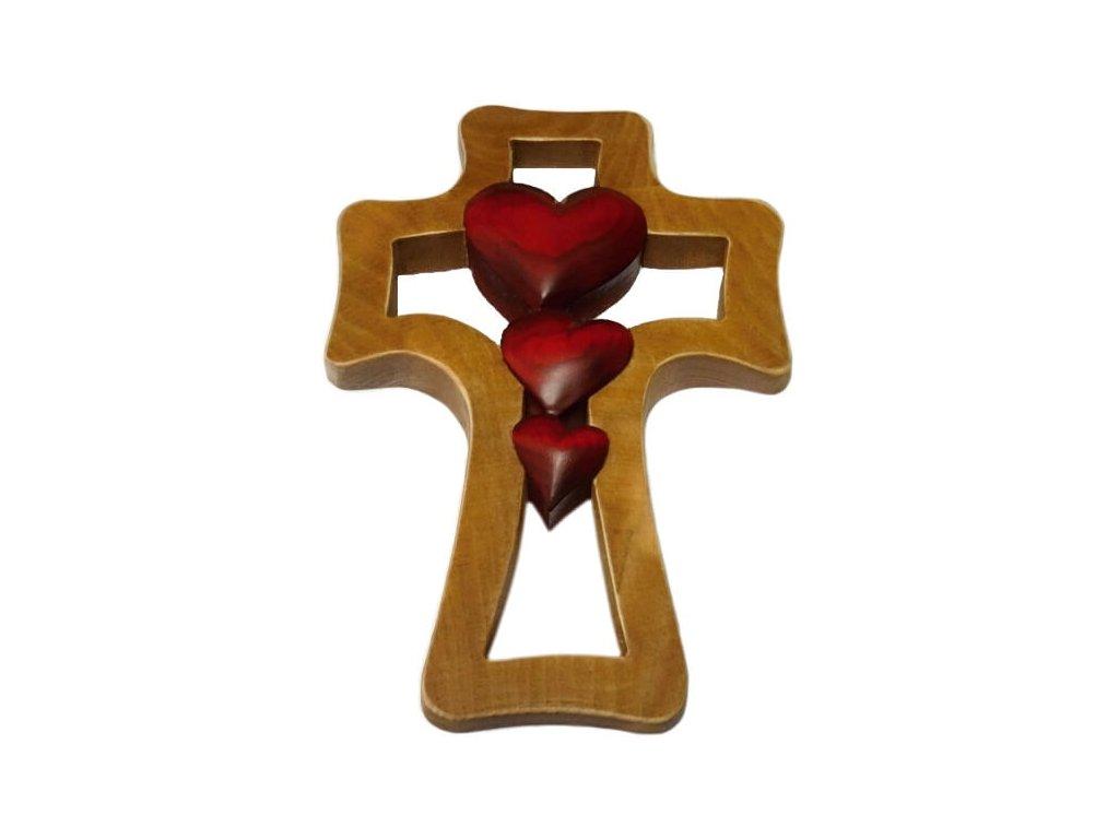 1398 Zaex Kříž hnědý, 3 červená srdce 1
