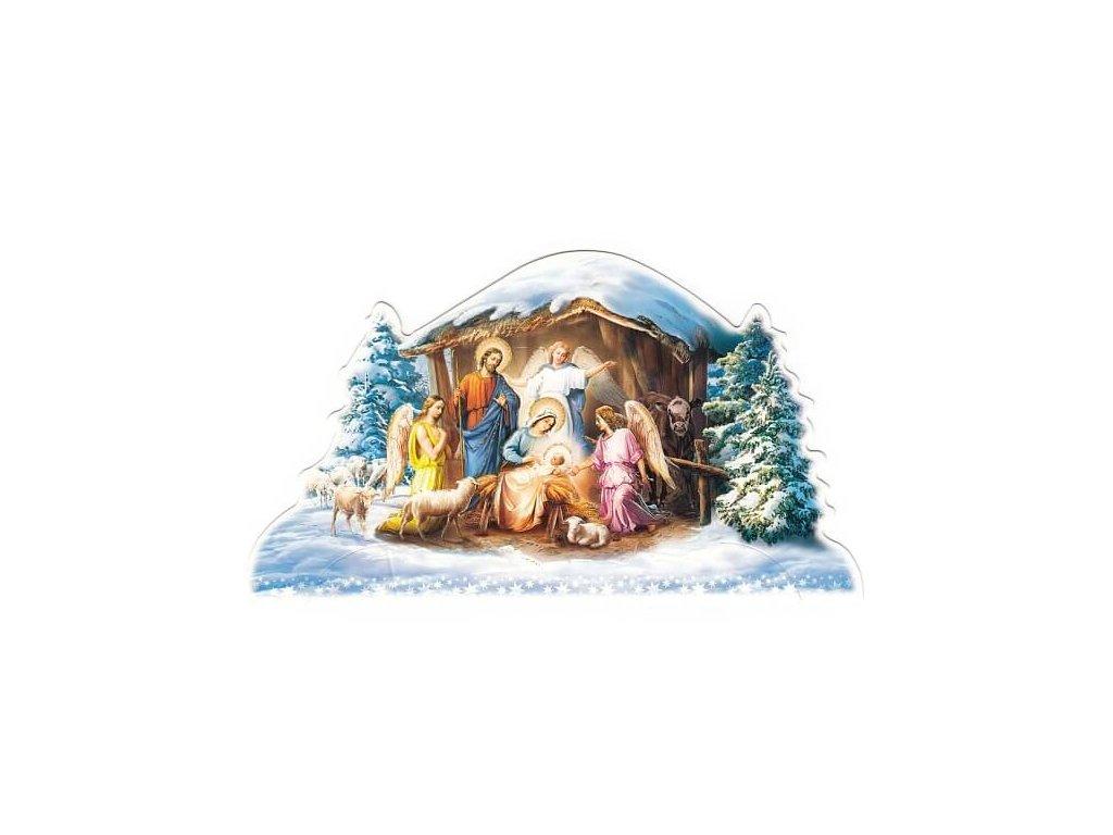 1429 Zaex Skládací Betlém andělé