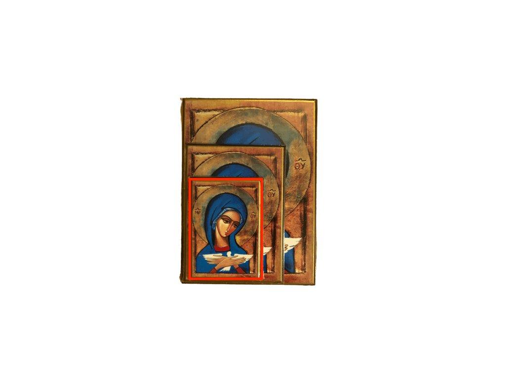 1448 Obrazek Panna Marie s holubici S SlovoProTebe.cz Česvel
