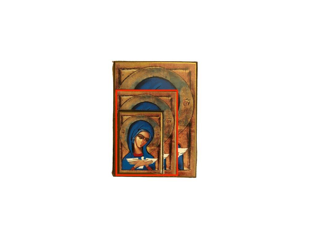 1449 Obrazek Panna Marie s holubici M SlovoProTebe.cz Česvel