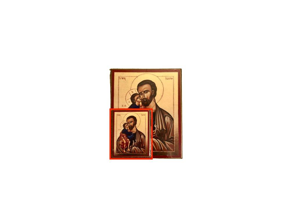 1455 Obrazek sv. Josef s Ježíšem S SlovoProTebe.cz Česvel
