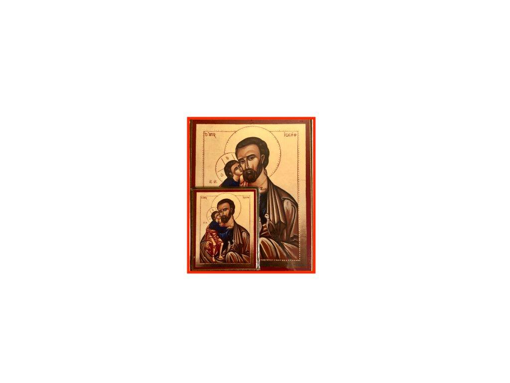 1456 Obrazek sv. Josef s Ježíšem L SlovoProTebe.cz Česvel