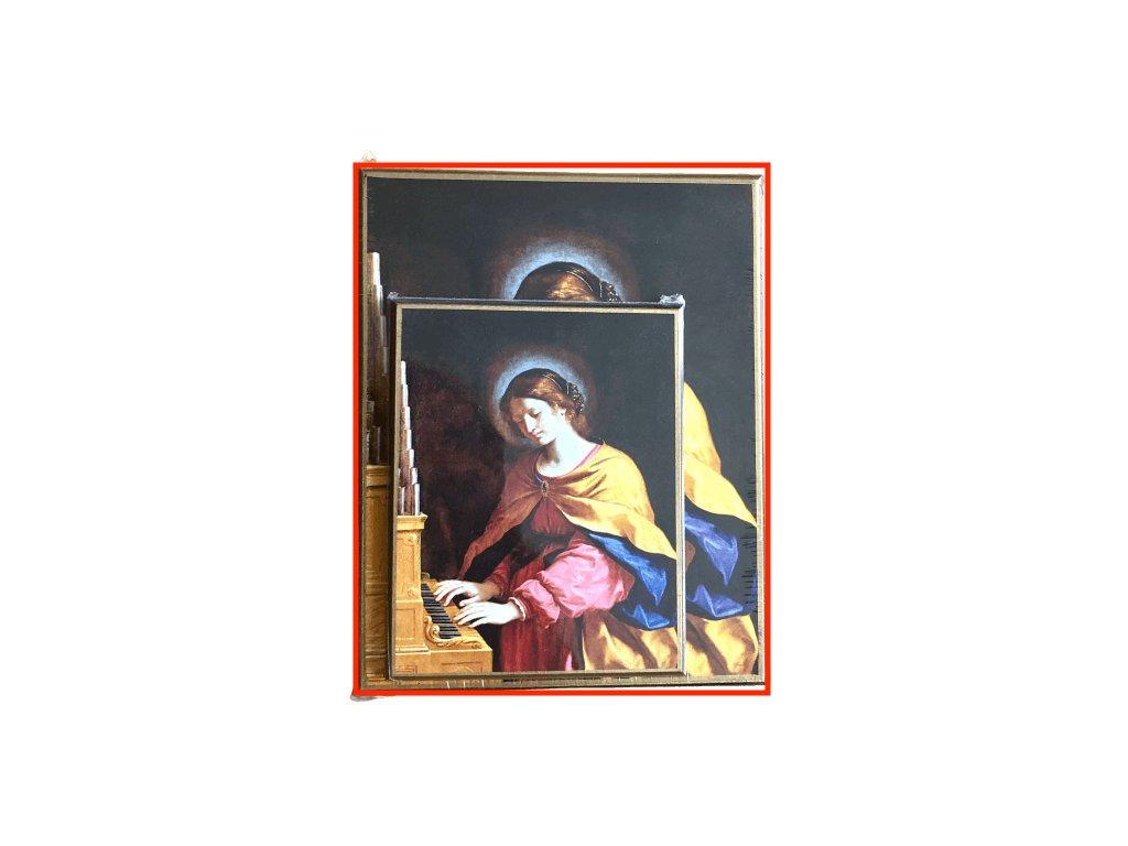 1458 Obrazek sv. Cecilie L SlovoProTebe.cz Česvel