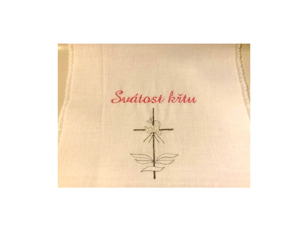 701 krestni rouska vysivana ruzova svatost