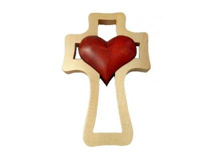 1395 Zaex Kříž světlý, červené srdce velké 1