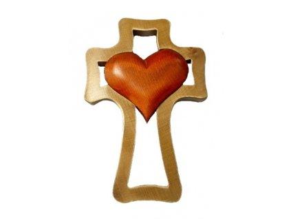 1396 Zaex Kříž hnědý, oranžové srdce velké 1