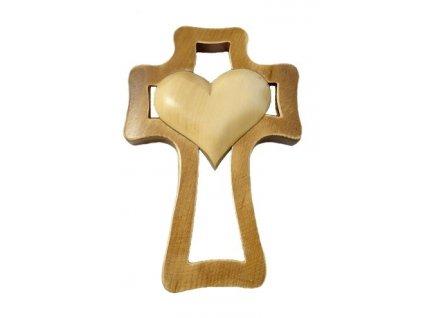 1397 Zaex Kříž hnědý, béžové srdce velké 1